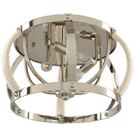 Kalco 312540PN Bradbury 3 Light 15 inch Polished Nickel Flush Mount Ceiling Light