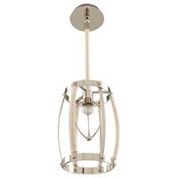 Kalco 312550PN Bradbury 1 Light 9 inch Polished Nickel Mini Pendant Ceiling Light