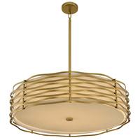 Kalco 312754VBR Paloma LED 31 inch Vintage Brass Pendant Ceiling Light