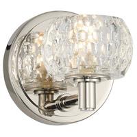 Kalco 312831PN Ella LED 5 inch Polished Nickel Bath Vanity Wall Light