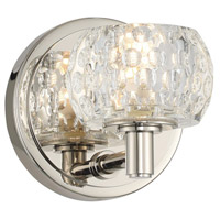 Kalco 312831PN Ella LED 5 inch Polished Nickel Vanity Light Wall Light