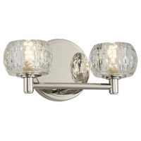 Kalco 312832PN Ella LED 11 inch Polished Nickel Vanity Light Wall Light