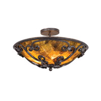 Kalco Stratford 3 Light Semi Flush Mount in Veneto 3129VO/NS117