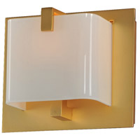 Kalco 313231GD Meridian LED 6 inch Gold Bath Vanity Wall Light