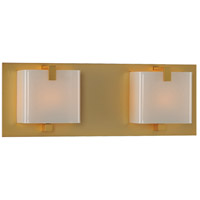 Kalco 313232GD Meridian 2 Light 14 inch Gold Vanity Light Wall Light