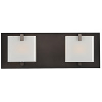 Kalco 313232BBN Meridian 2 Light 14 inch Brushed Black Nickel Vanity Light Wall Light