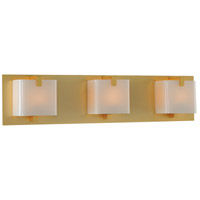 Kalco 313233GD Meridian 3 Light 22 inch Gold Vanity Light Wall Light