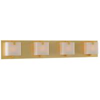 Kalco 313234GD Meridian 4 Light 30 inch Gold Vanity Light Wall Light