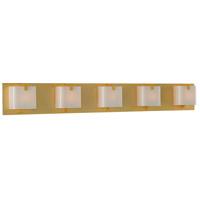 Kalco 313235GD Meridian 5 Light 38 inch Gold Vanity Light Wall Light