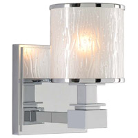 Kalco 313531CH Destin 1 Light 5 inch Chrome Vanity Light Wall Light