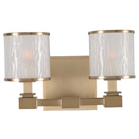 Kalco 313532BRB Destin 2 Light 12 inch Brushed Bronze Vanity Light Wall Light