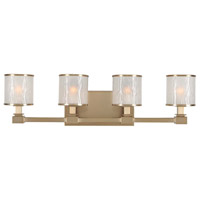 Kalco 313534BRB Destin 4 Light 27 inch Brushed Bronze Vanity Light Wall Light