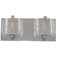 South Bay 2 Light 12 inch Chrome Vanity Light Wall Light