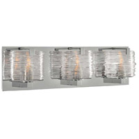 South Bay 3 Light 19 inch Chrome Vanity Light Wall Light