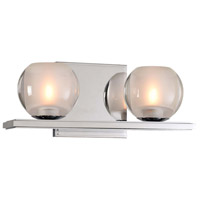 Kalco 315032CH Corona LED 12 inch Chrome Vanity Light Wall Light