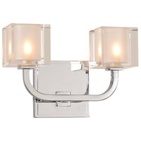 Kalco 315232CH Arcata LED 10 inch Chrome Vanity Light Wall Light