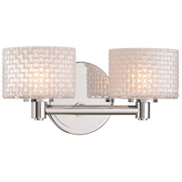 Kalco 315532CH Willow LED 12 inch Chrome Bath Vanity Wall Light
