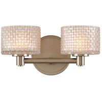 Kalco 315532SN Willow LED 12 inch Satin Nickel Vanity Light Wall Light