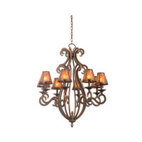 Kalco Santa Barbara 8 Light Chandelier in Antique Copper 3161AC/S205