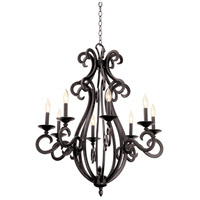 Kalco 3161CI/8045 Santa Barbara 8 Light 31 inch Country Iron Chandelier Ceiling Light