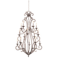 Kalco 3164PS Santa Barbara 15 Light 34 inch Pearl Silver Foyer Ceiling Light