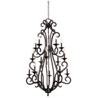 Kalco Lighting Santa Barbara 15 Light Foyer in Tortoise Shell 3164TO/NoShade