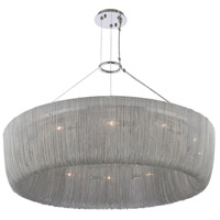 Kalco 316951PN Genevieve 12 Light 34 inch Polished Nickel Pendant Ceiling Light