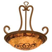 Kalco Santa Barbara 3 Light Pendant in Tuscan Sun 3177TN/PS112