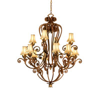 Kalco Wellington 12 Light Chandelier in Toscana 3237TC/S47