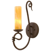 Vine 1 Light 7 inch Tortoise Shell Wall Sconce Wall Light in Calcite (CALC)