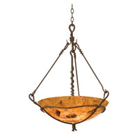 Vine 3 Light 25 inch Bark Pendant Ceiling Light in Penshell (PS102)