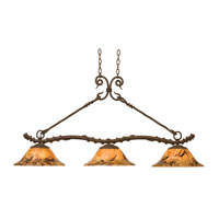 Kalco 3498BA/PS07 Vine 3 Light 51 inch Bark Island Light Ceiling Light in Penshell (PS07)