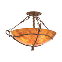 Kalco Vine 3 Light Semi Flush Mount in Bark 3499BA/NS101