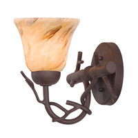 Kalco Vine 1 Light Bath Light in Bark 3521BA/1239