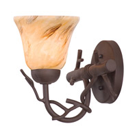 Vine 1 Light 9 inch Bark Bath Light Wall Light in Neutral Swirl (1239)