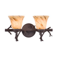 Kalco Vine 2 Light Bath Light in Bark 3522BA/1239