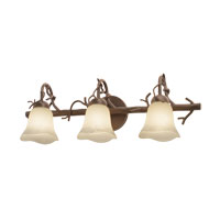 Kalco Vine 3 Light Bath Light in Bark 3523BA/1255