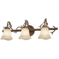 Kalco 3523BA/1255 Vine 3 Light 27 inch Bark Bath Light Wall Light in Small Piastra (1255) photo thumbnail