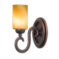 Kalco Santa Barbara 1 Light Bath Light in Antique Copper 3541AC/1502
