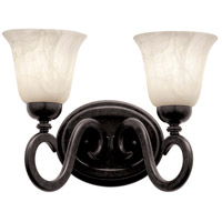 Kalco 3542TO/1219 Santa Barbara 2 Light 18 inch Tortoise Shell Bath Vanity Wall Light in White Alabaster (1219)