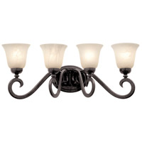 Kalco Lighting Santa Barbara 4 Light Bath Light in Tortoise Shell 3544TO/1219