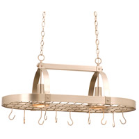 Contemporary 2 Light 36 inch Bark Pot Rack Ceiling Light