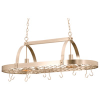 Contemporary 2 Light 44 inch Satin Nickel Pot Rack Ceiling Light