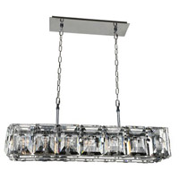 Kalco Lighting Giada 7 Light Island Light in Stainless Steel 390465SL