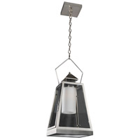 Kalco 400510SL Revere Outdoor 1 Light 10 inch Stainless Steel Hanging Lantern Ceiling Light