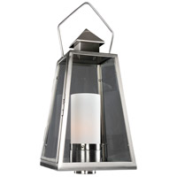 Kalco 400590SL Revere Outdoor 1 Light 28 inch Stainless Steel Post Mount