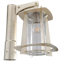 Kalco Lighting Shelby 1 Light Post Lantern in Tarnished Silver 401800-TS