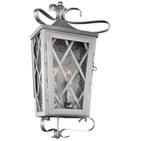 Kalco 402220SL Trellis 2 Light 10 inch Brushed Stainless Steel Wall Pocket Wall Light