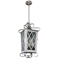 Kalco 402250SL Trellis 4 Light 12 inch Brushed Stainless Steel Lantern