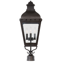 Kalco 403300AI Winchester Outdoor 3 Light 29 inch Aged Iron Post Mount
